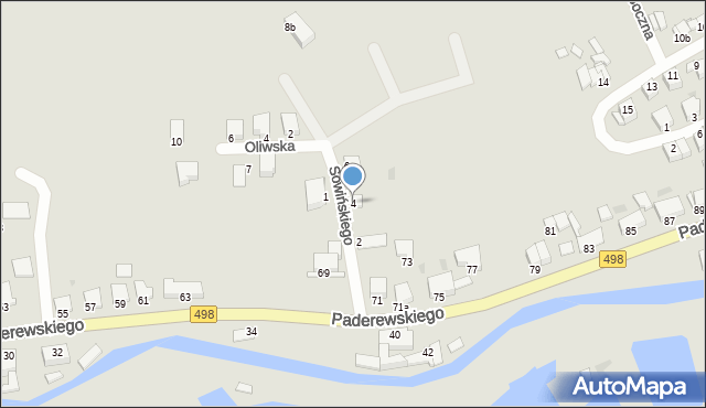 Grudziądz, Sowińskiego Józefa, gen., 4, mapa Grudziądza