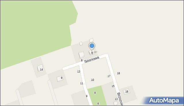 Kochanowo, Sosnowa, 6, mapa Kochanowo