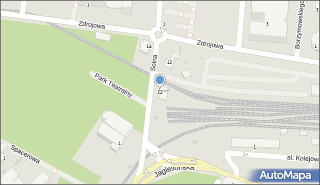 Kołobrzeg, Solna, 12, mapa Kołobrzegu