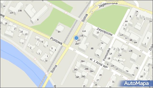 Kołobrzeg, Solna, 16A, mapa Kołobrzegu