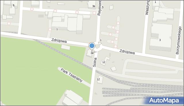 Kołobrzeg, Solna, 1a, mapa Kołobrzegu