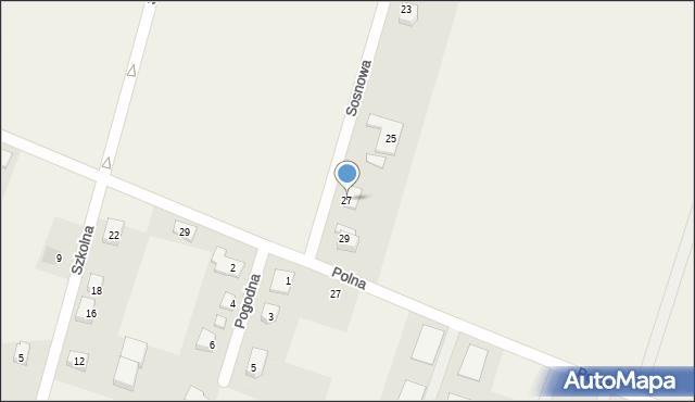 Krępice, Sosnowa, 27, mapa Krępice