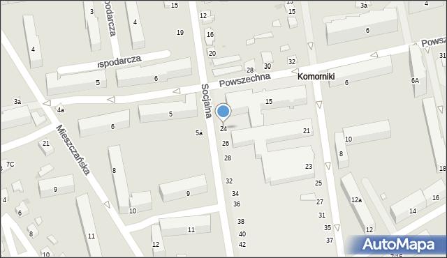 Łódź, Socjalna, 24, mapa Łodzi