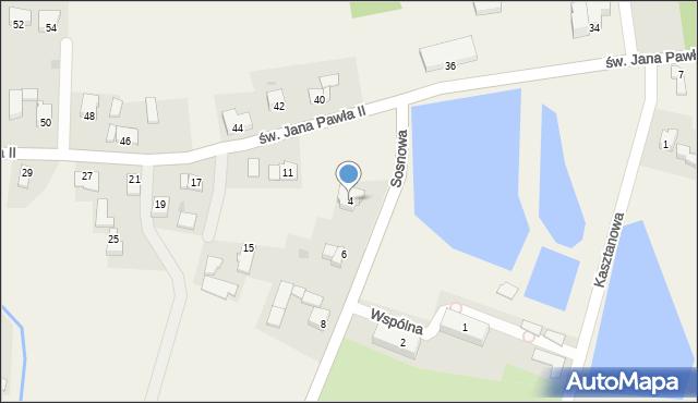Nidek, Sosnowa, 4, mapa Nidek