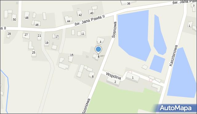 Nidek, Sosnowa, 6, mapa Nidek