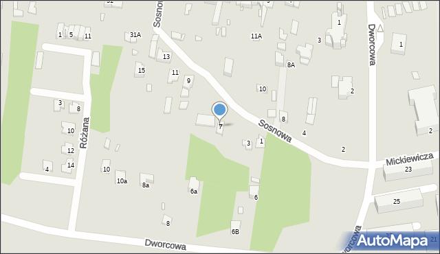 Poręba, Sosnowa, 7, mapa Poręba