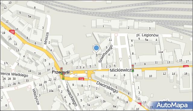 Przemyśl, Sowińskiego Józefa, gen., 3, mapa Przemyśla