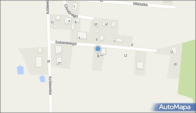 Robakowo, Sobieskiego, 8, mapa Robakowo