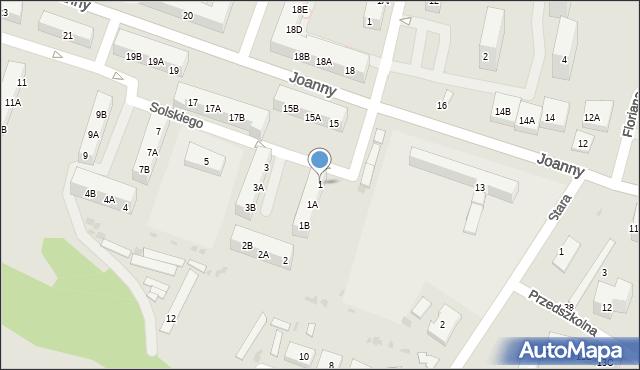 Ruda Śląska, Solskiego Ludwika, 1, mapa Rudy Śląskiej