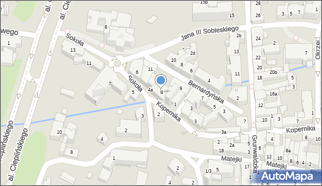 Rzeszów, Sokoła, 4, mapa Rzeszów