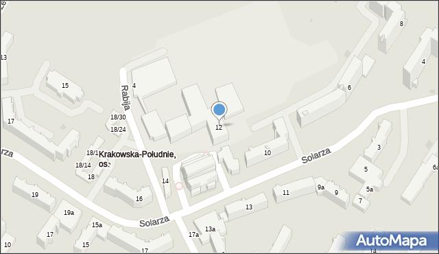 Rzeszów, Solarza Ignacego, 12, mapa Rzeszów