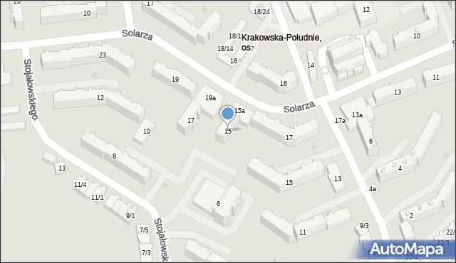 Rzeszów, Solarza Ignacego, 15, mapa Rzeszów