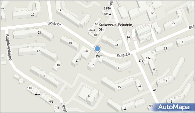 Rzeszów, Solarza Ignacego, 15a, mapa Rzeszów