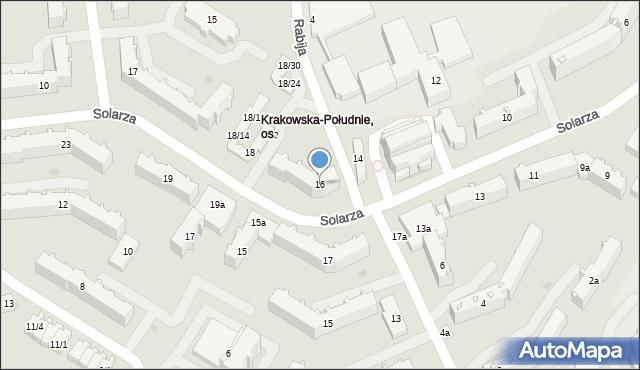 Rzeszów, Solarza Ignacego, 16, mapa Rzeszów