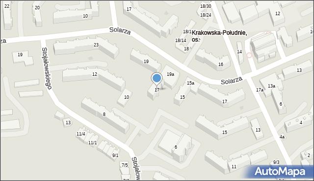 Rzeszów, Solarza Ignacego, 17, mapa Rzeszów