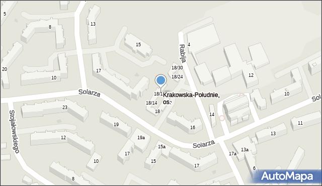 Rzeszów, Solarza Ignacego, 18/19, mapa Rzeszów