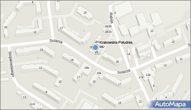 Rzeszów, Solarza Ignacego, 18/8, mapa Rzeszów