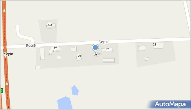 Sople, Sople, 25, mapa Sople