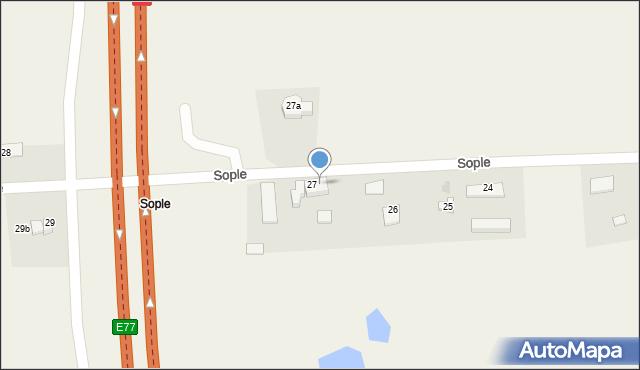 Sople, Sople, 27/1, mapa Sople