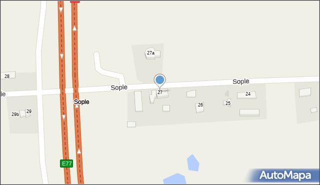 Sople, Sople, 27, mapa Sople