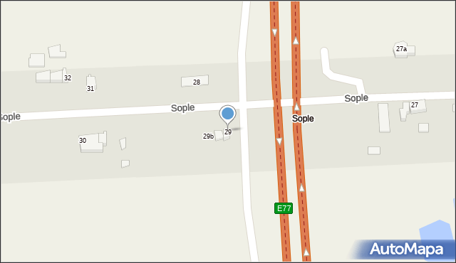 Sople, Sople, 29, mapa Sople