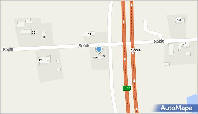 Sople, Sople, 29a, mapa Sople