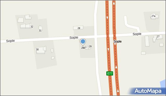 Sople, Sople, 29b, mapa Sople