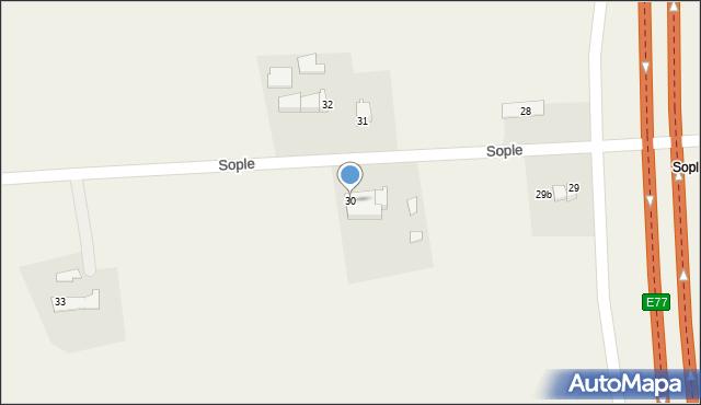 Sople, Sople, 30, mapa Sople