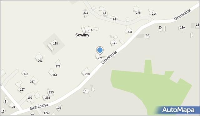 Sowliny, Sowliny, 271, mapa Sowliny