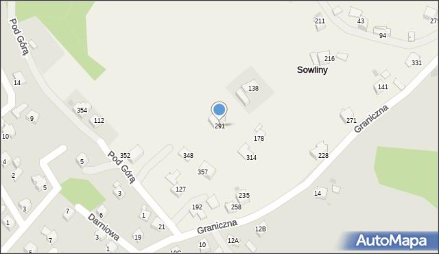 Sowliny, Sowliny, 291, mapa Sowliny