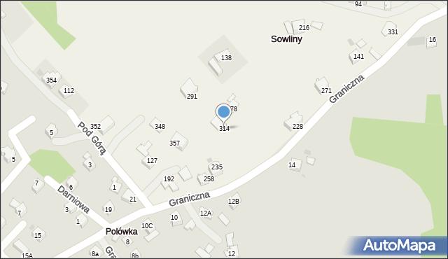 Sowliny, Sowliny, 314, mapa Sowliny