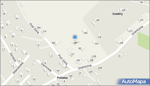 Sowliny, Sowliny, 348, mapa Sowliny