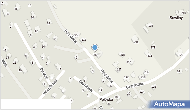 Sowliny, Sowliny, 352, mapa Sowliny