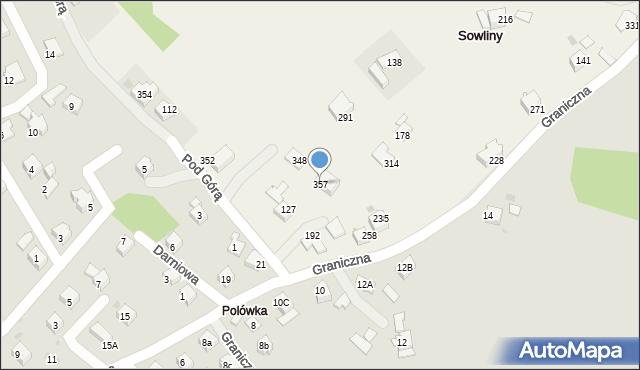 Sowliny, Sowliny, 357, mapa Sowliny