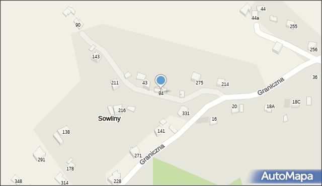 Sowliny, Sowliny, 94, mapa Sowliny