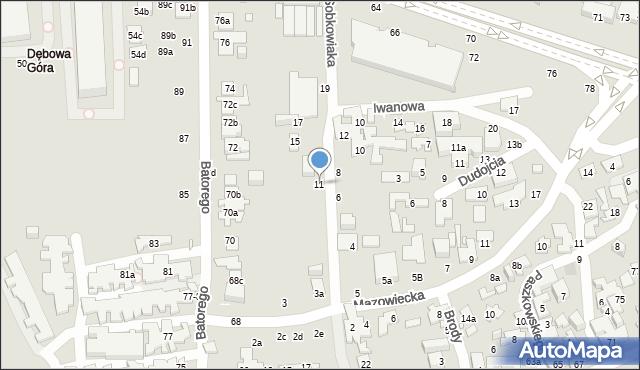 Toruń, Sobkowiaka Andrzeja, 11, mapa Torunia