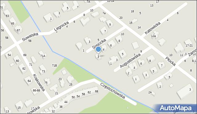 Toruń, Sopocka, 2, mapa Torunia