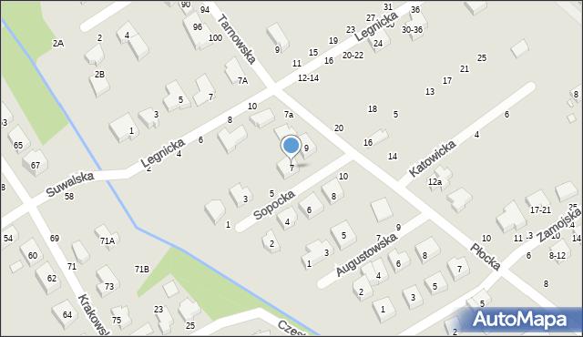 Toruń, Sopocka, 7, mapa Torunia
