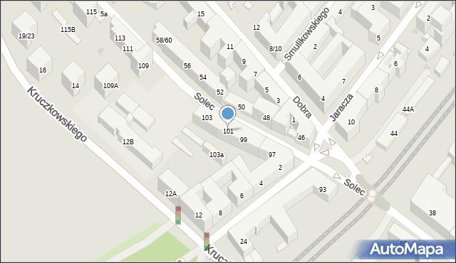 Warszawa, Solec, 101, mapa Warszawy