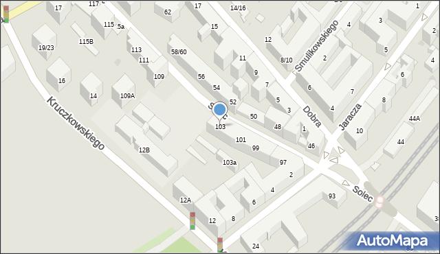 Warszawa, Solec, 103, mapa Warszawy
