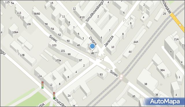 Warszawa, Solec, 46, mapa Warszawy