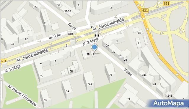 Warszawa, Solec, 81, mapa Warszawy