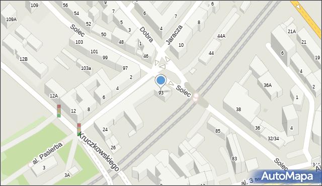 Warszawa, Solec, 93, mapa Warszawy
