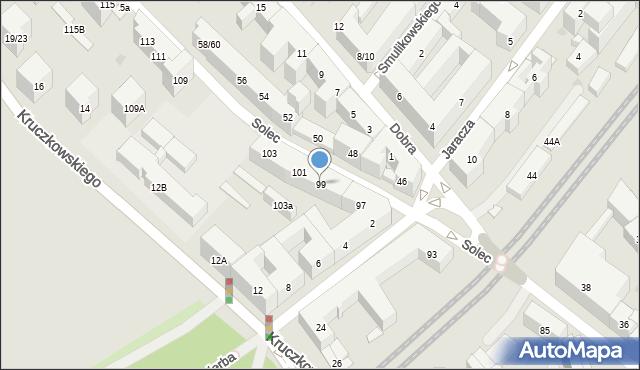 Warszawa, Solec, 99, mapa Warszawy