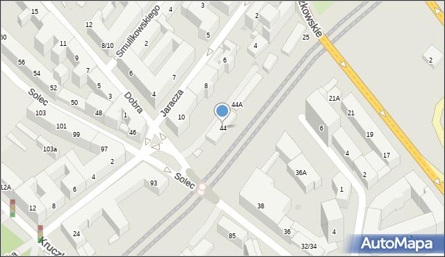 Warszawa, Solec, 44, mapa Warszawy