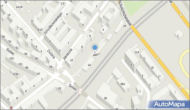Warszawa, Solec, 44A, mapa Warszawy