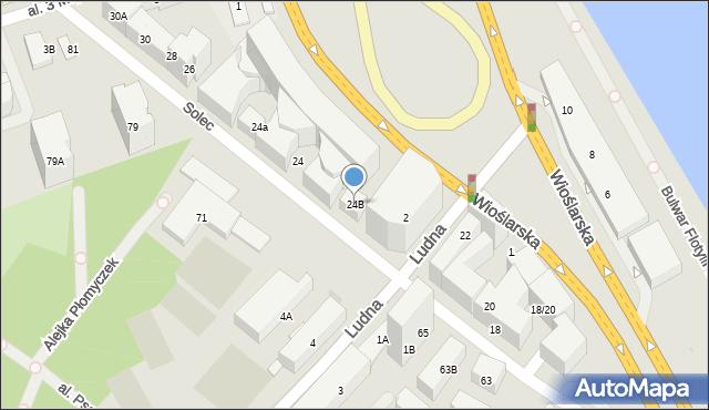 Warszawa, Solec, 24B, mapa Warszawy