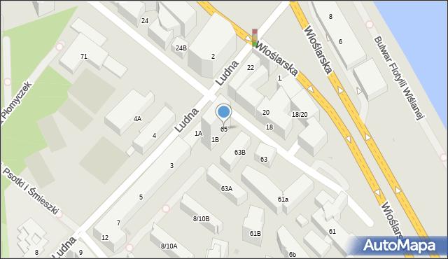Warszawa, Solec, 65, mapa Warszawy