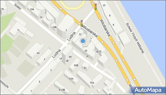 Warszawa, Solec, 20A, mapa Warszawy