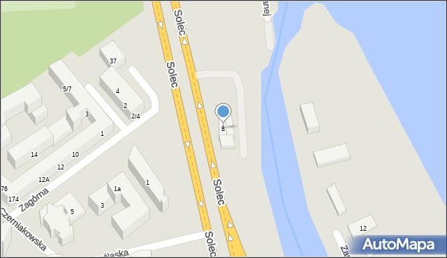Warszawa, Solec, 8, mapa Warszawy